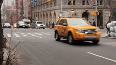 Taxi and Town Car in Murray Hill NYC Stock Footage