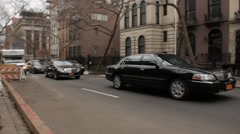 Two Town Cars in Murray Hill NYC Stock Footage