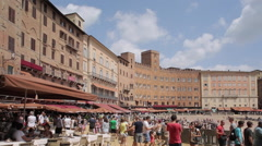 Stock Video Footage of Piazza del Campo, Siena, Tuscany, Italy, Europe