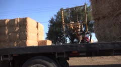 CALIFORNIA, Hay on flatbed truck Stock Footage