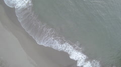 Aerial View: Shorebreak/Waves Breaking Stock Footage
