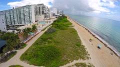 Aerial Miami Beach video Stock Footage