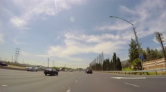 Driving Los Angeles highway CA 4 Stock Footage