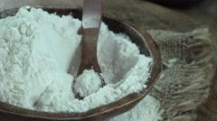 Rotating Rice Flour (seamless loopable 4K footage) Stock Footage