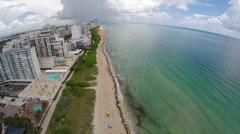 Miami Beach aerial video 3 Stock Footage