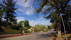 Driving through Hollywood Hills CA 5 Stock Footage