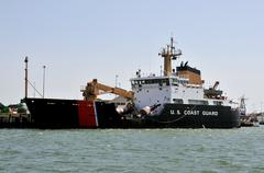 Coast Guard Buoy Tender - stock photo