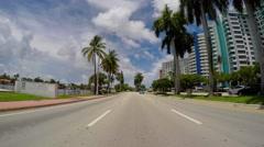 Driving through Miami Beach 7 Stock Footage