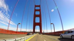 Driving on the Golden Gate Bridge 11 - stock footage