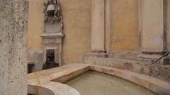 Well on Via Pantaneto, Siena, Tuscany, Italy, Europe Stock Footage
