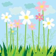 Stock Illustration of meadow card