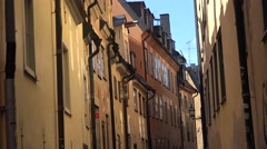 Old town of Stockholm city in Sweden Stock Footage