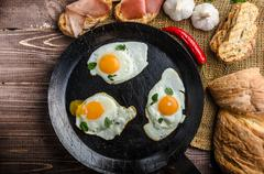 Full protein breakfast - stock photo