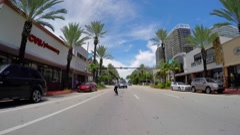 Driving through Miami Beach Stock Footage
