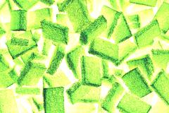 Abstract mix of square scouring pad for background used Stock Photos