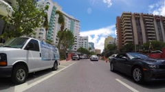 Stock Video Footage of Driving through Collins Avenue 4