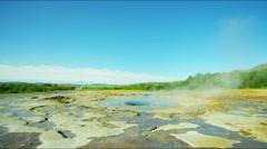 Iceland Geyser Strokkur Golden Circle volcanic spring - stock footage