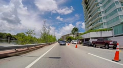 Driving through Miami Beach 9 Stock Footage