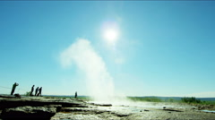 Iceland Geysir Strokkur Hot Springs Golden Circle - stock footage