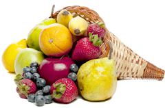 Fruit Cornucopia Stock Photos