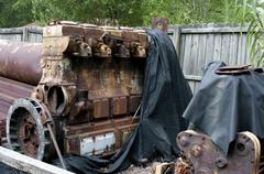 Diesel Train Engine - stock photo