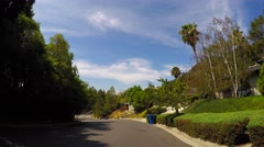 Stock Video Footage of Driving through Hollywood Hills CA 2