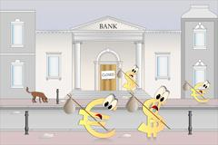 Unexpected bank holiday - stock illustration