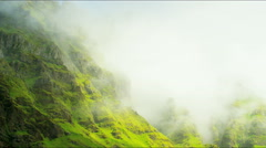 Iceland Southern mountain mist outdoor Wilderness cloud travel - stock footage