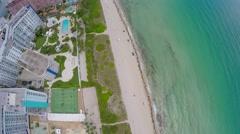 Miami Beach aerial video 2 Stock Footage