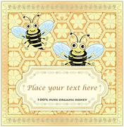 Label for homemade honey Stock Illustration
