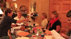 Passover Dinner Table with Friends - stock footage