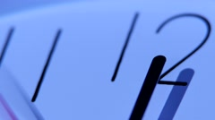 An image of a clock at twelve. Close up - stock footage
