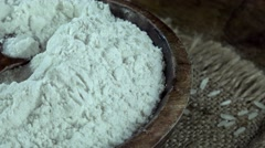 Rice Flour (not loopable 4K footage) Stock Footage