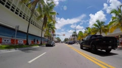 Driving through Collins Avenue - stock footage
