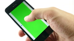 Stock Video Footage of Holding Touchscreen Device green-screen 4k video