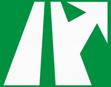 Highway Exit Sign In Colombia - stock illustration