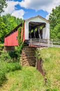 Hills Covered Bridge Stock Photos