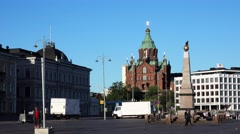 Assumption Cathedral in Helsinki. 4K. Stock Footage