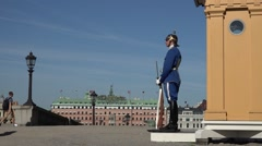 Royal Palace in stockholm sweden Royal Guard Stock Footage
