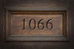 Stock Photo of Engraved Historical Year 1066