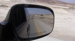 Driving in Israeli Desert- Judea/ West Bank - stock footage