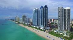 Florida aerial beach panorama Stock Footage