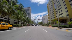 Driving through Collins Avenue 5 Stock Footage