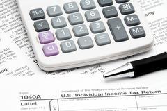 Tax Return Stock Photos