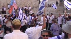 Israeli's Celebrate Jerusalem Day - stock footage