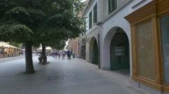 Walking on Nicolae Balcescu Street in Sibiu Stock Footage