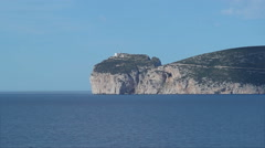 Shadow of a Cloud over Capo Caccia Sardinia Italy - 29,97FPS NTSC Stock Footage