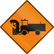 Construction Machinery in Canada Stock Illustration