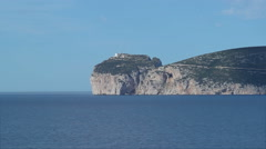 Shadow of a Cloud over Capo Caccia Sardinia Italy - 25FPS PAL Stock Footage