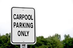Carpool Parking Only Stock Photos